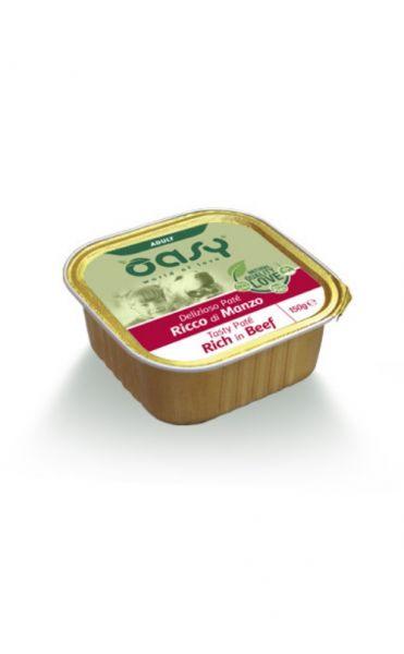Oasy Delizioso Paté Umido Cane Adulto Manzo 150 g