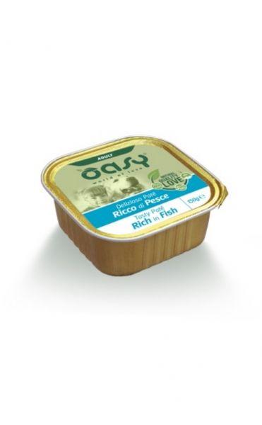 Oasy Delizioso Paté Umido Cane Adulto Pesce 150 g